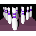 download Bowling Pins Shaded clipart image with 270 hue color