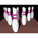 download Bowling Pins Shaded clipart image with 315 hue color