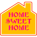download Home Sweet Home 2 clipart image with 135 hue color