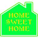 download Home Sweet Home 2 clipart image with 225 hue color