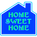 download Home Sweet Home 2 clipart image with 315 hue color