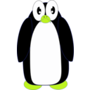 download Surprised Penguin clipart image with 45 hue color