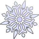 download Single Snowflake clipart image with 45 hue color