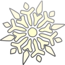 download Single Snowflake clipart image with 225 hue color