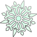 download Single Snowflake clipart image with 315 hue color