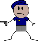 Police Stick Figure