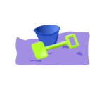 download Bucket And Spade 2 clipart image with 225 hue color