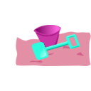 download Bucket And Spade 2 clipart image with 315 hue color