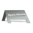 download Open House Signage clipart image with 45 hue color