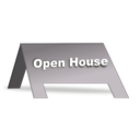 download Open House Signage clipart image with 225 hue color