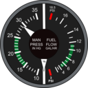 Manifold Pressure And Fuel Flow