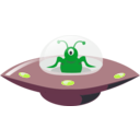 download Ufo In Cartoon Style clipart image with 45 hue color