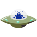 download Ufo In Cartoon Style clipart image with 135 hue color