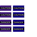 download Caution And Danger Signs clipart image with 225 hue color