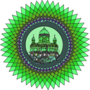 download Mandala Building In Color clipart image with 90 hue color