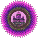 download Mandala Building In Color clipart image with 270 hue color