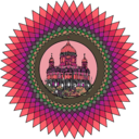 download Mandala Building In Color clipart image with 315 hue color