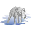 download Elephant 01 clipart image with 90 hue color