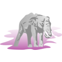 download Elephant 01 clipart image with 180 hue color