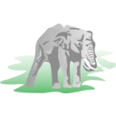 download Elephant 01 clipart image with 0 hue color