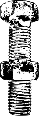 Nut Bolt Monochrome