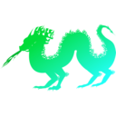 download Dragon clipart image with 135 hue color
