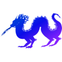 download Dragon clipart image with 225 hue color