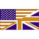 download Us Uk Flag clipart image with 45 hue color
