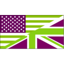 download Us Uk Flag clipart image with 90 hue color