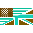 download Us Uk Flag clipart image with 180 hue color