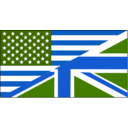 download Us Uk Flag clipart image with 225 hue color
