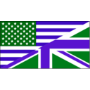 download Us Uk Flag clipart image with 270 hue color