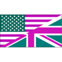 download Us Uk Flag clipart image with 315 hue color