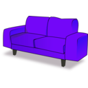 download Sofa Tandem clipart image with 225 hue color