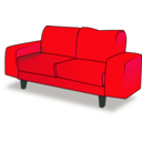 download Sofa Tandem clipart image with 315 hue color