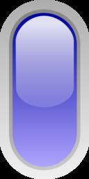 Led Rounded V Blue
