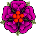 download Heraldic Rose clipart image with 315 hue color