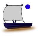download Pinisi Boat clipart image with 225 hue color