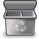 download Gray Recycle Bin clipart image with 135 hue color