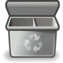 download Gray Recycle Bin clipart image with 315 hue color