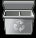Gray Recycle Bin