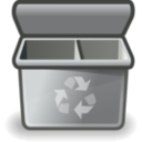 Gray Recycle Bin