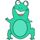 download Happy Frog clipart image with 45 hue color