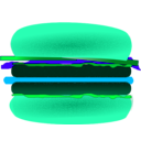 download Hamburger clipart image with 135 hue color