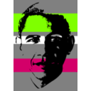 download Obama clipart image with 90 hue color