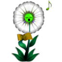 download Singing Daisy clipart image with 45 hue color