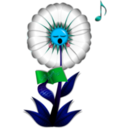 download Singing Daisy clipart image with 135 hue color