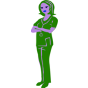 download Clinical Nurse clipart image with 225 hue color
