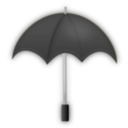 download Umbrella Black clipart image with 45 hue color