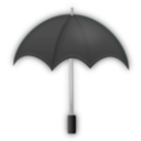 download Umbrella Black clipart image with 135 hue color